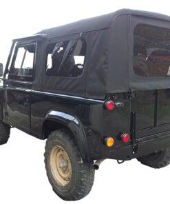 EXT247-LT188, Land Rover Defender 90 Hood, Black Stayfast Hood, Side windows