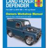 Land Rover Defender, DA3206, Haynes, Workshop Manual, Defender, Diesel