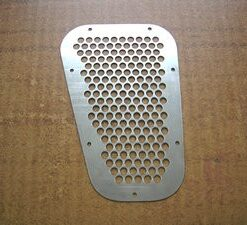 Stainless steel wing top vents, land rover defender, PM717