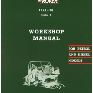 RTC9839C Land Rover Series 1 Workshop Manual