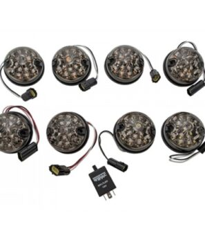 DA1190, Land Rover Defender, Led light kit, Smoked, Wipac, Defender, Series