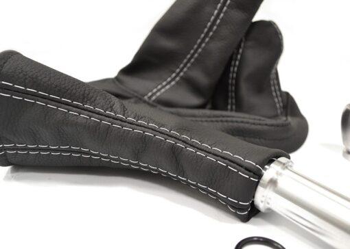 Land Rover Defender, Parts, Accessories, EXT014-5, EXT014-6, Gaiter Kit, Gear Shift Kit, Leather, Stitch, Gear Knob, Shift Knob, Hand Brake Knob, Slobs, Gear Slob, Aluminium, quality
