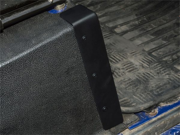 Land Rover Defender, Parts, Accessories, DA1435, Seat Box Protector, black plastic, damaged Seat Box,