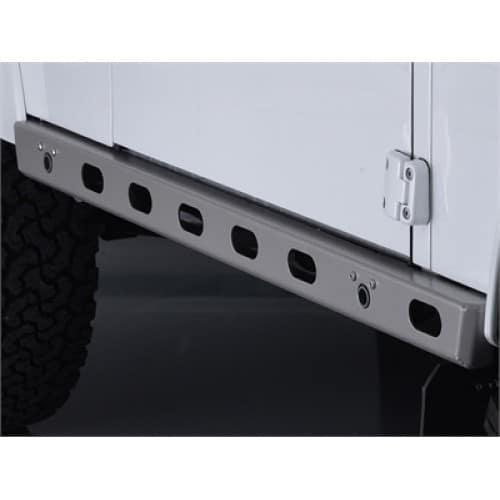 Bowler light weight protector sills, DA1373, DA1374, Land Rover Defender, Black, Graphite