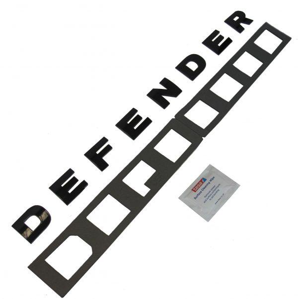 Defender Motorkap Letters Zwart